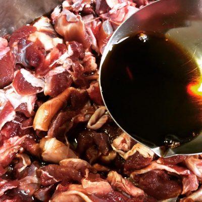 ジビエカレー レシピ 醤油洗い