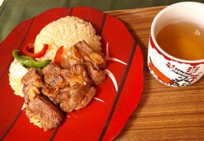 ラム カレー味アジア風 ジャスミン茶