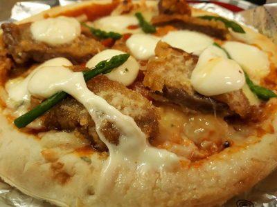 #ラム #カツ マルゲリータ ピザ チーズ
