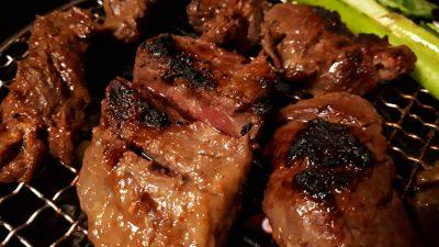 #一口ステーキ 味付 牛サガリ