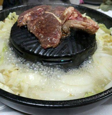 飯田市 牛のサガリ ジンギスカン 焼鍋