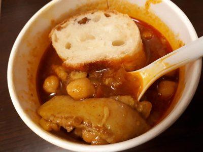 イノシシのヨロイ カレースープ ひよこ豆