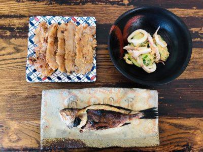 イシモチの粕漬け 塩イカの粕もみ 猪の酒粕味噌焼き