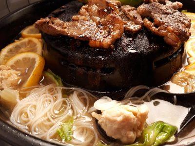 ムーガタ鍋 ごとく付き 陶器 塩レモン鍋 焼鍋 奉行 米の麺