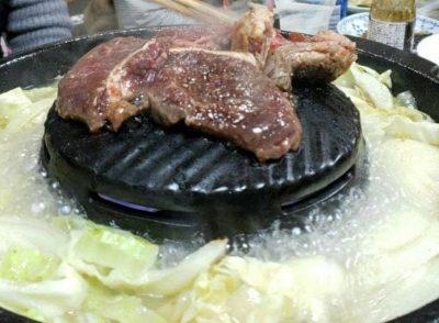 飯田市 飯田焼肉 牛のサガリ ジンギスカン 焼鍋