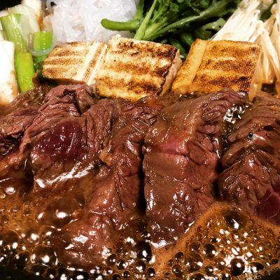 牛ステーキすき焼き