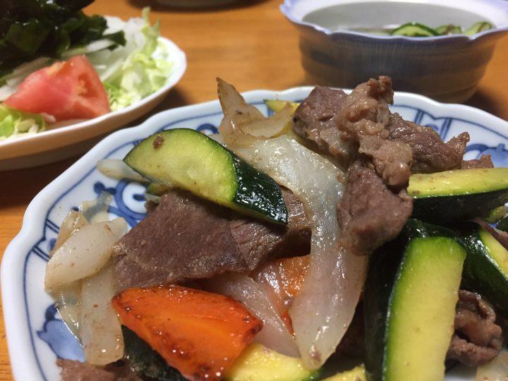 塩ダレ 夏野菜 ズッキーニ ジンギスカン