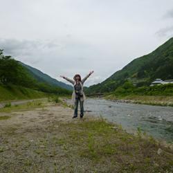 遠山郷の「逆さ富士」#遠山郷 ビクトリーポーズ
